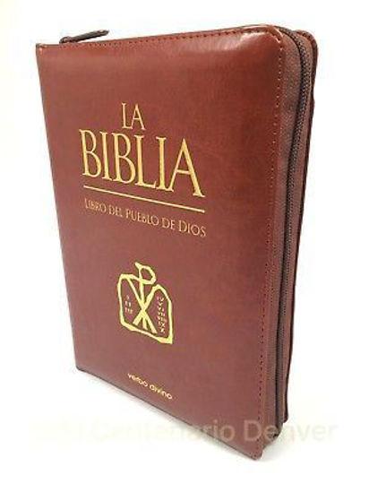 BIBLIA LIBRO DEL PUEBLO DE DIOS (CREMALLERA) SIMIL PIEL
