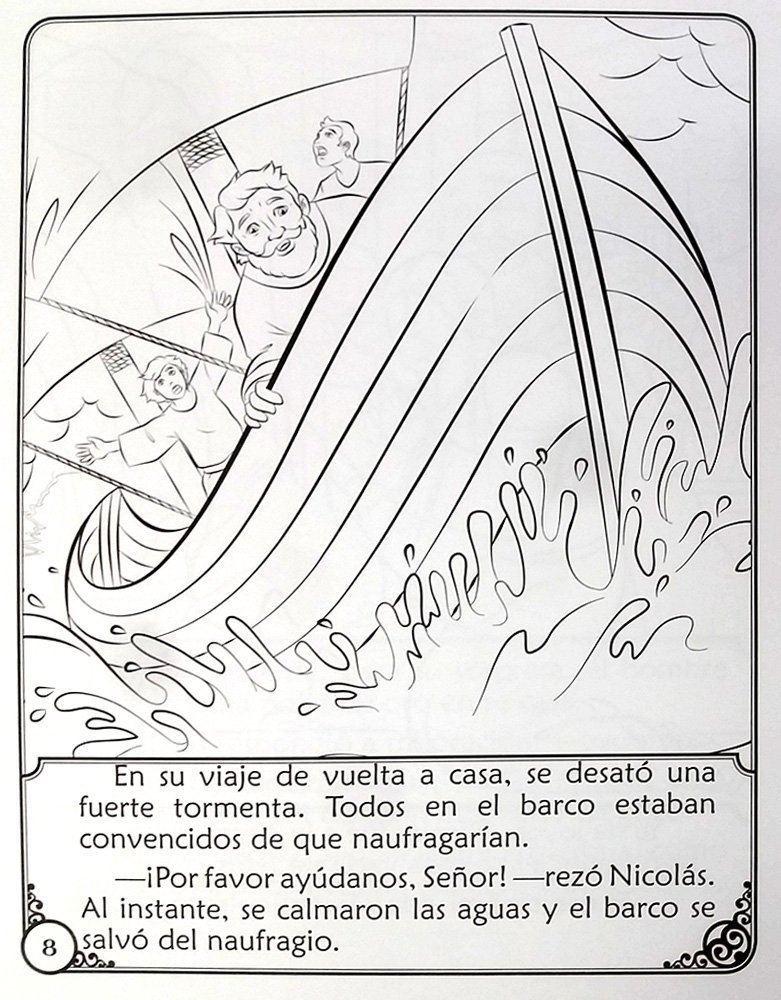 Picture of RELATO DE SAN NICOLAS LIBRO DE CUENTOS PARA COLOREAR