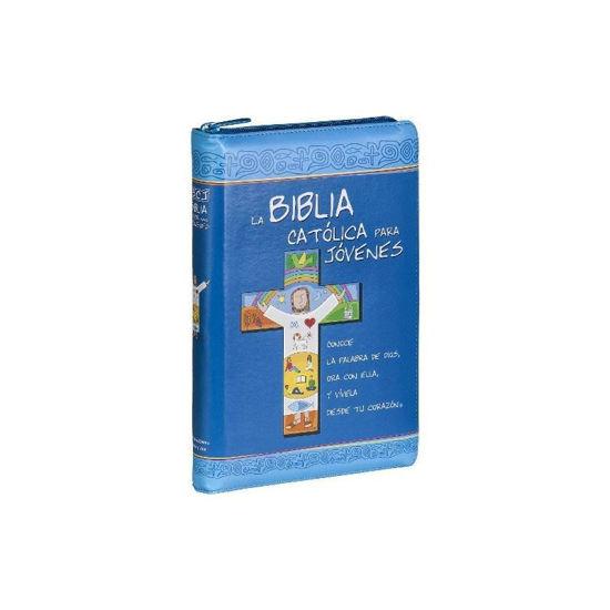 BIBLIA CATOLICA PARA JOVENES (JUNIOR SEMI PIEL CREMALLERA) JUNIOR