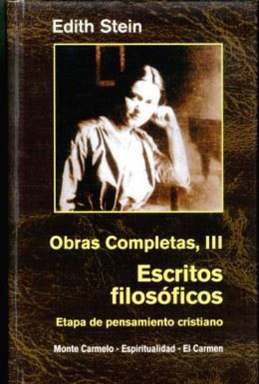 EDITH STEIN OBRAS COMPLETAS III ESCRITOS FILOSOFICOS