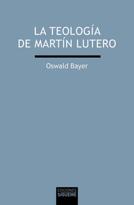 Picture of TEOLOGIA DE MARTIN LUTERO #215 (SIGUEME)